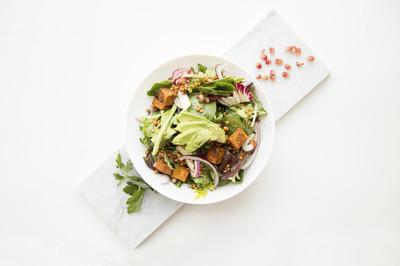 Gemüsesalat mit Tofu