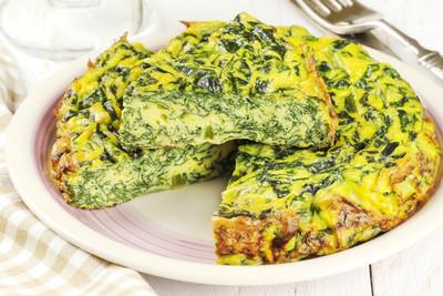 Omelette mit Spinat