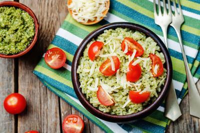 Reis mit Gemüse & Pesto (vgn)