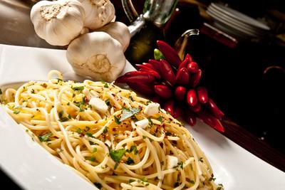 Spaghetti aglio e olio (vgn)